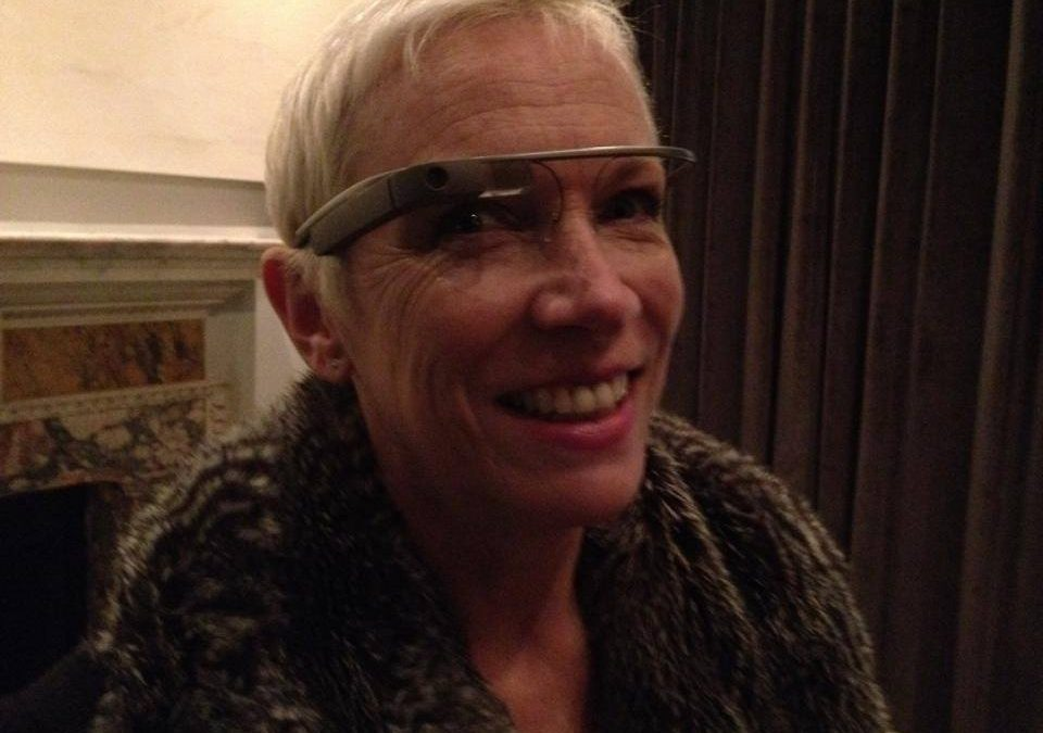 Here I am wearing a pair of Google Glasses!