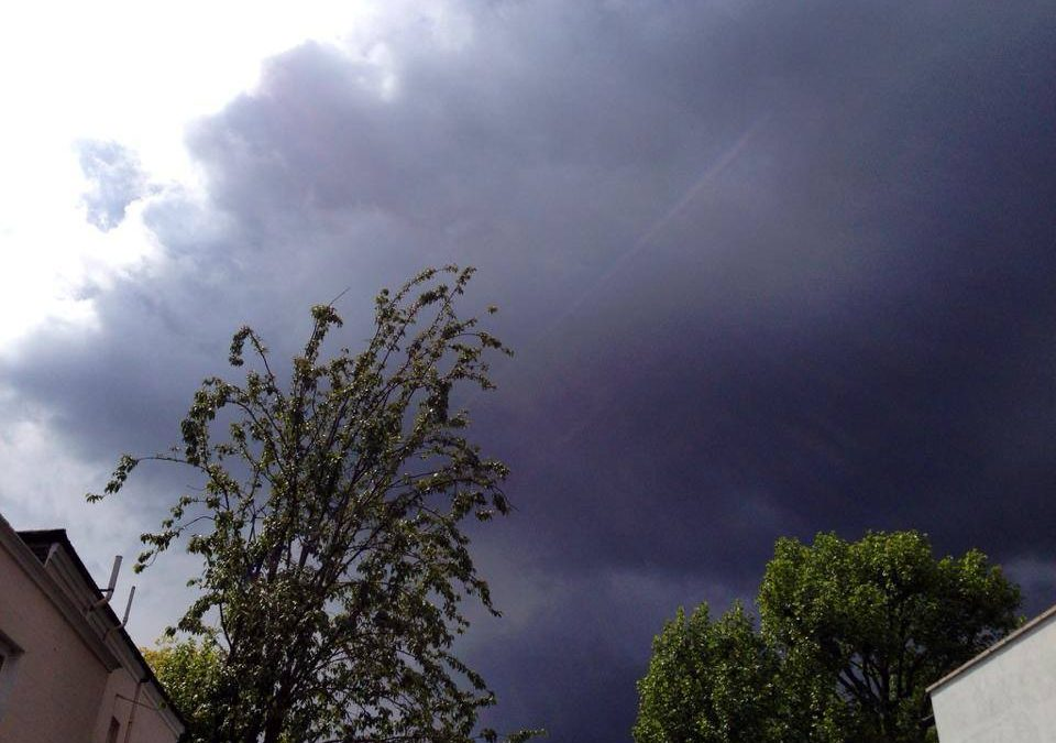 Brooding skies..just before the rain fall..Is it raining with you?