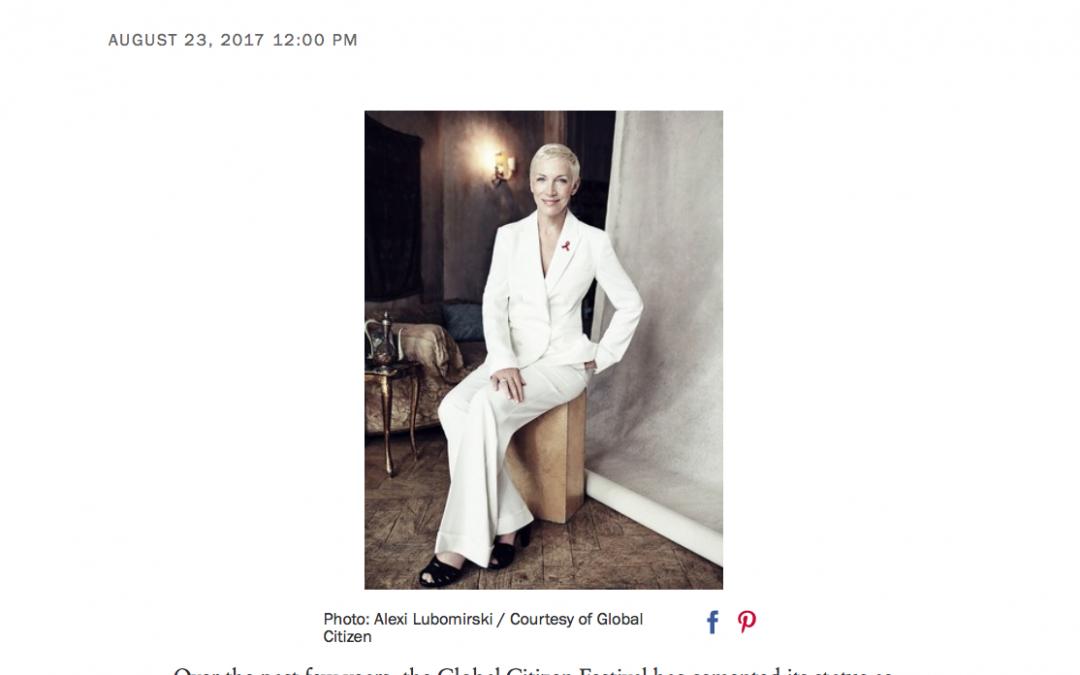 "Read Online ""Annie Lennox Chooses Hope"" Vogue.com"