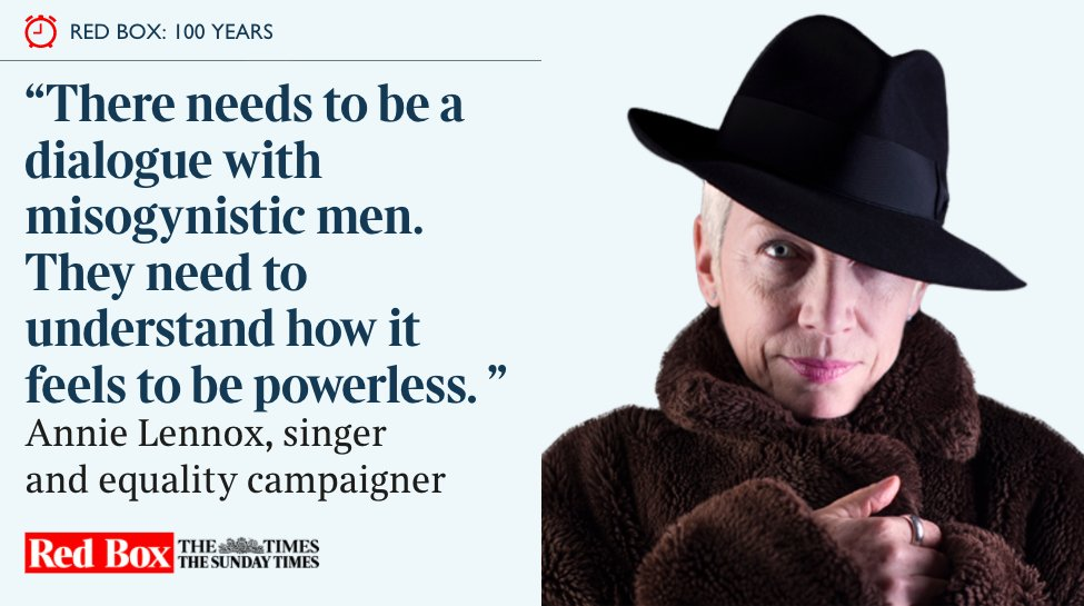 Read online – Annie Lennox In The Times #Suffrage100