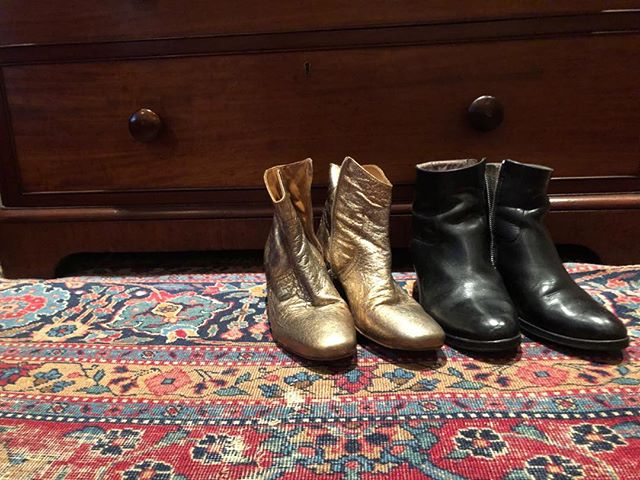My boots are gettin' ready for walking into Glasgow's Armadillo on Thursday… Feets don't fail me now!