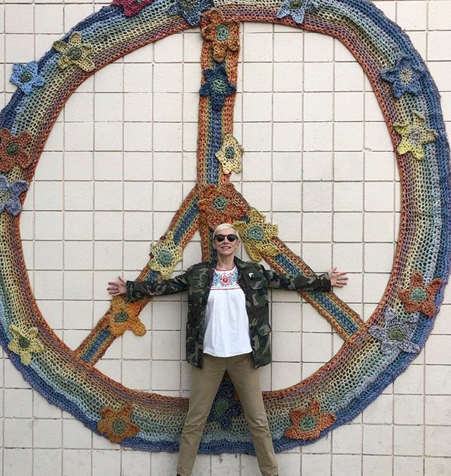 In a world of continuous instability, chaos and dysfunction,… where on earth do we find 'peace'??? Standing in front of the iconic 60's anti war symbol in a fashionable district of the city.. asking that very same question… Have a peace filled Sunday..️