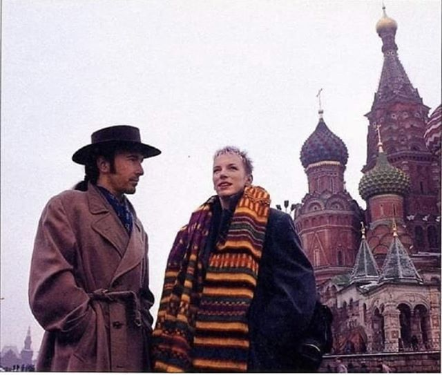 Taken in the late 80's, just after Perestroika had taken place. Standing in Moscow's Red Square with the Edge from U2, to promote the opening of the first Greenpeace office in Russia… Long surreal story!